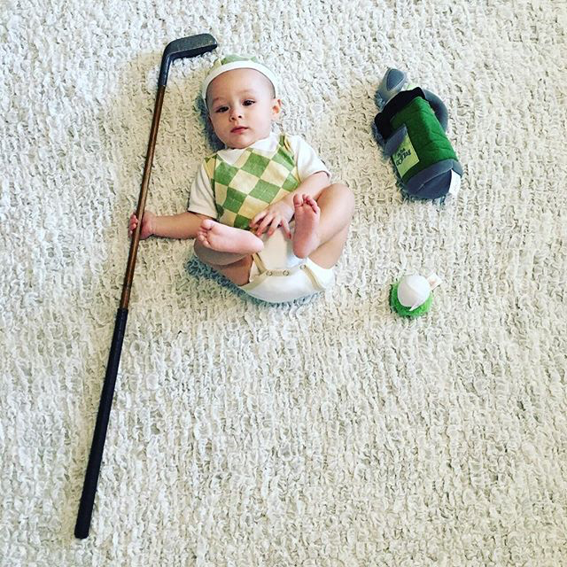 Baby Golfer | Fan Photo by nollie_pollie_ollie via Instagram | Baby Aspen