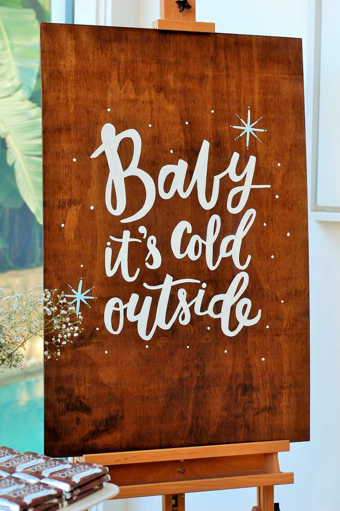 Baby It's Cold Outside Sign | A Happy Holidays Baby Shower | Baby Aspen