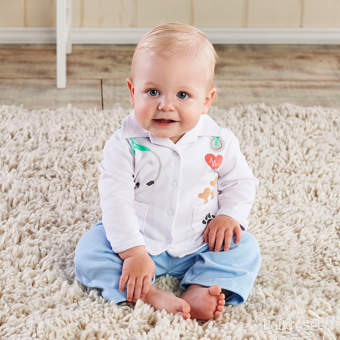 Mini-Me Outfits: Baby Veterinarian Layette Set