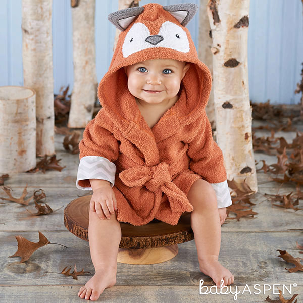 Baby in Fox Robe Baby Aspen