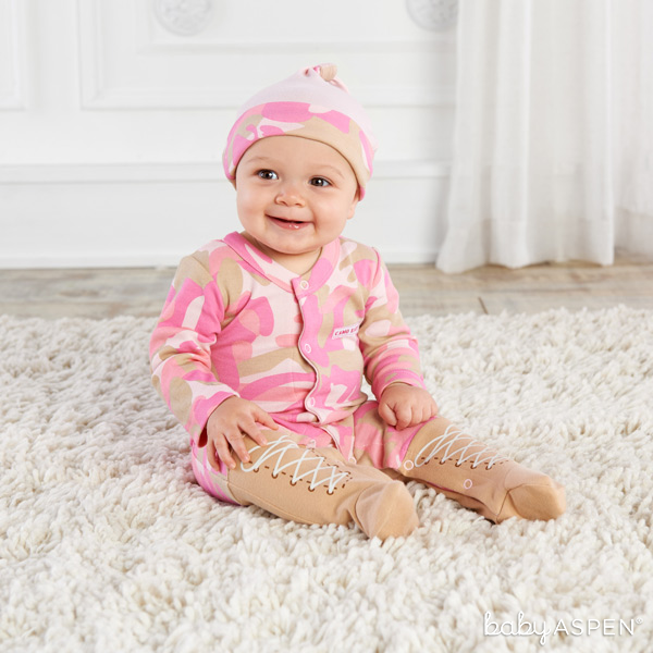 Sweet Baby in Pink Camo Layette | Baby Aspen