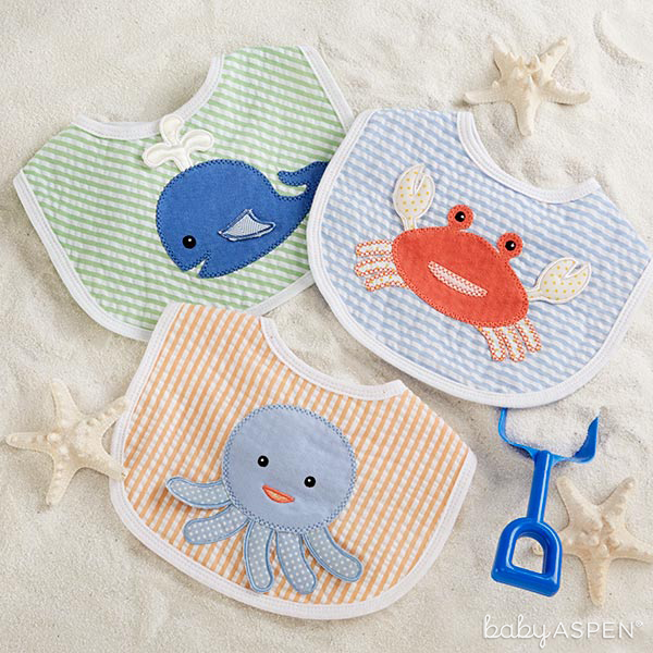Boy Beach Buddies Bib Set | Baby Aspen