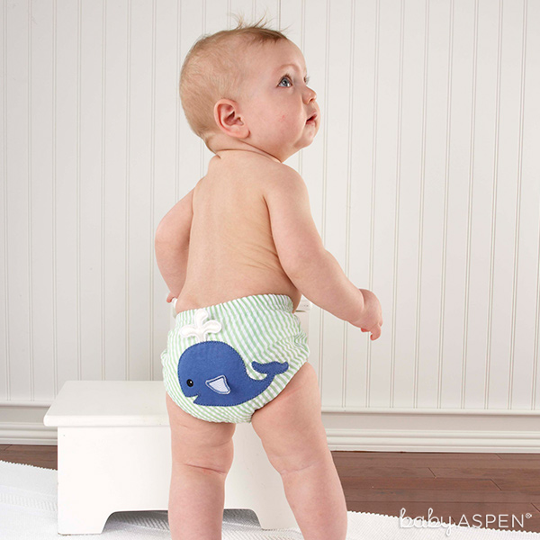 Whale Diaper Cover | Beach Bum Diaper Cover Set | Baby Aspen