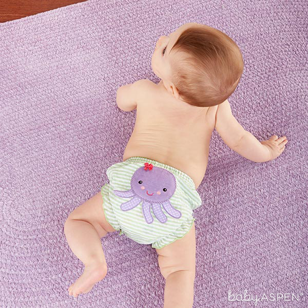 Octopus Diaper Cover | Beach Bums Bloomers Set | Baby Aspen