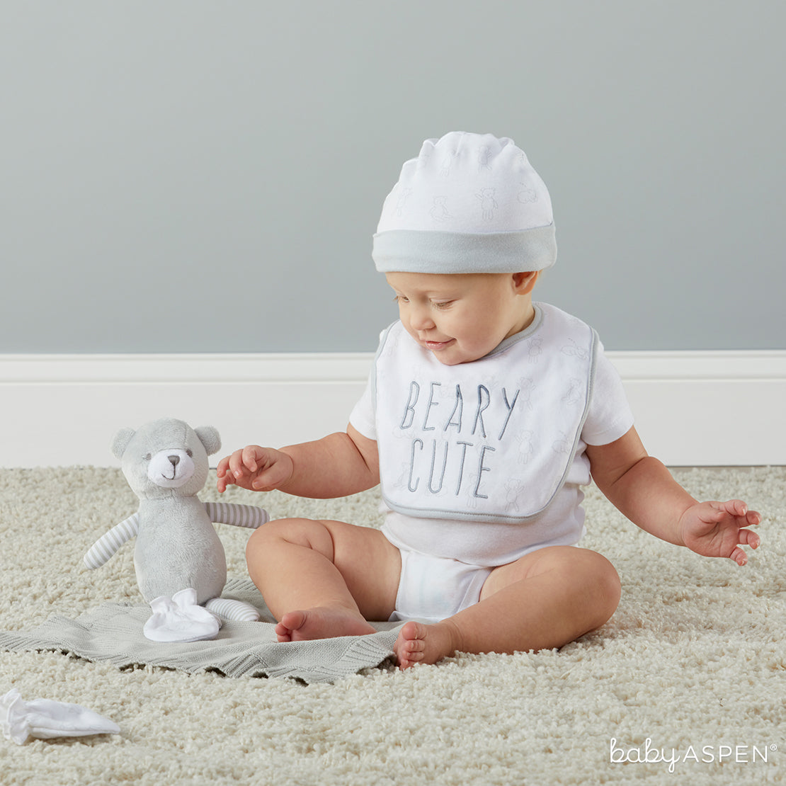 Beary Cute 5 Piece Home Set | 5 Great Gender Neutral Gifts | Baby Aspen