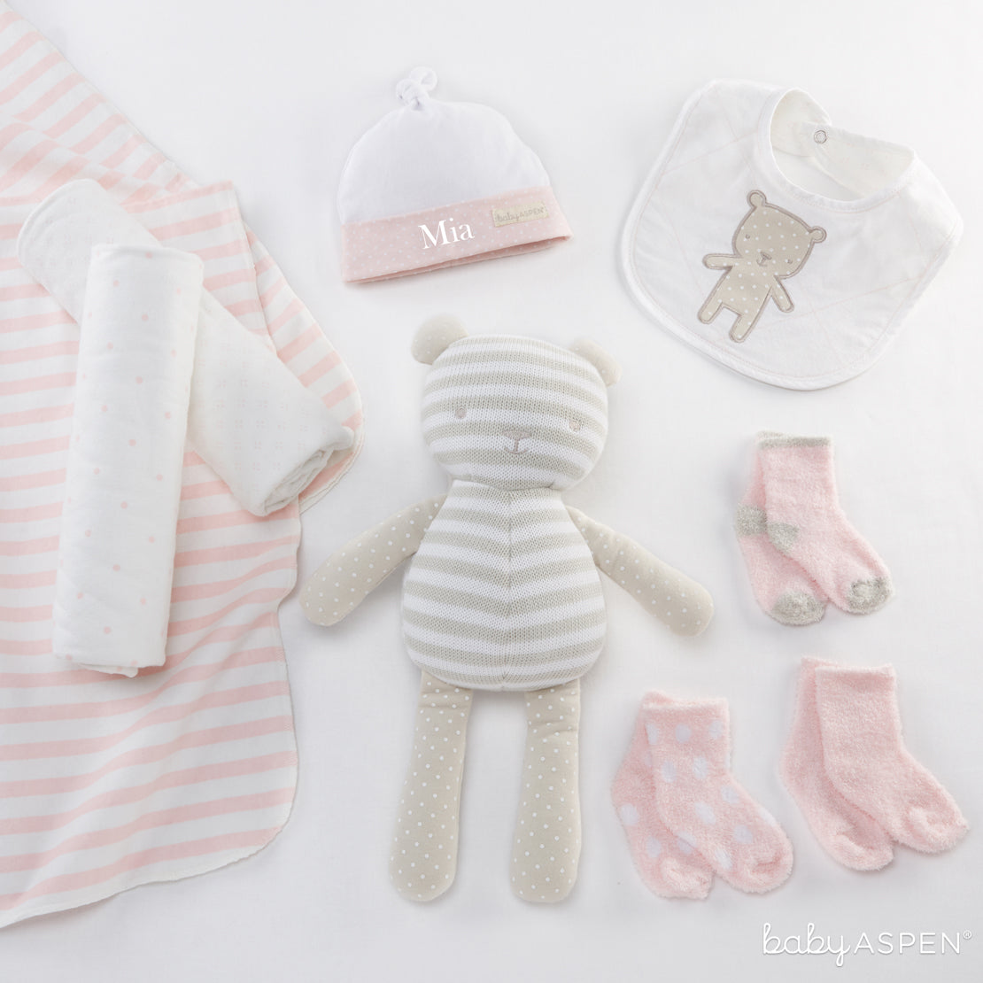 Beary Special Gift Set Pink | Unique Gift Sets Perfect For Any Baby Shower | Baby Aspen