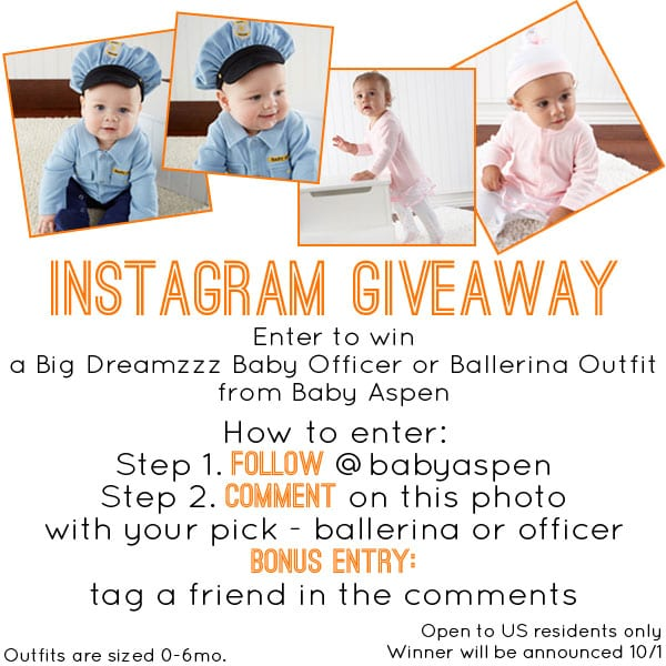 Baby Aspen Big Dreamzzz Instagram Giveaway | Halloween Costume Ideas for Baby