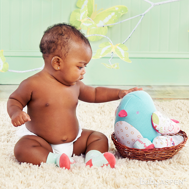 Bird Plush Plus Socks | Sweet Baby Blossom Collection by @BabyAspen