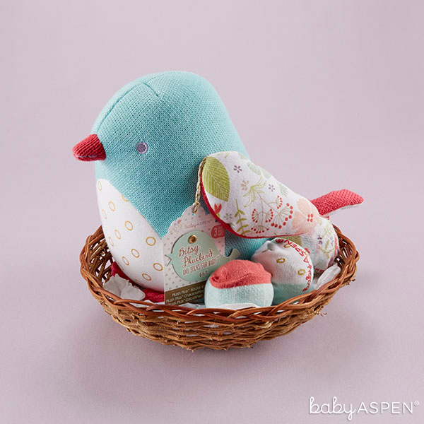 Bitsy Blubird Plush With Socks | BabyAspen.com