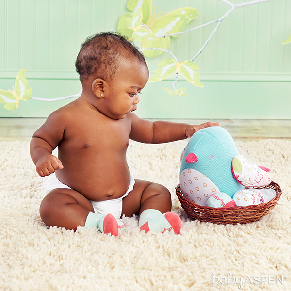 Sweet Bluebird Plush With Socks | BabyAspen.com