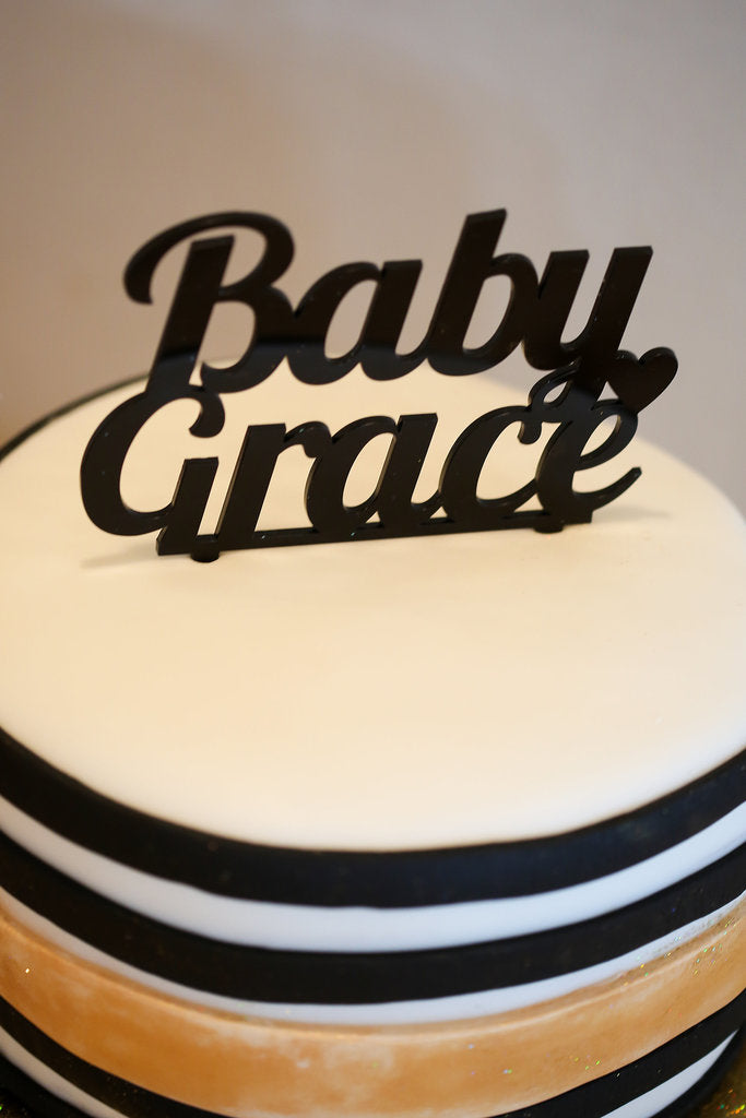 Baby Grace Cake Topper Baby Shower | Miss Cake