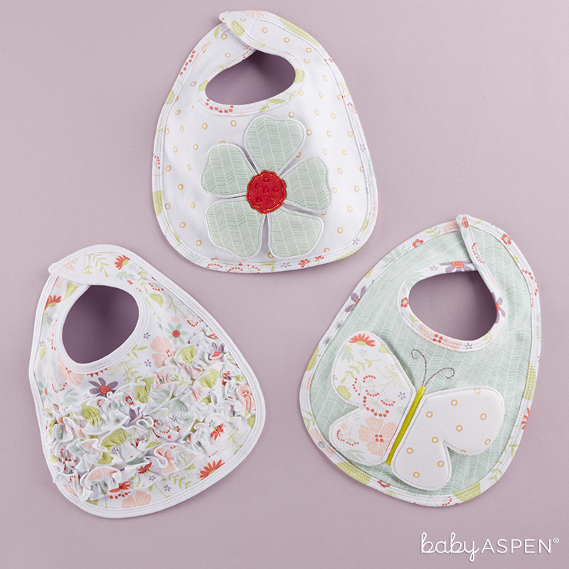 Blossoms Bib Set |  | Sweet Baby Blossom Collection by @BabyAspen