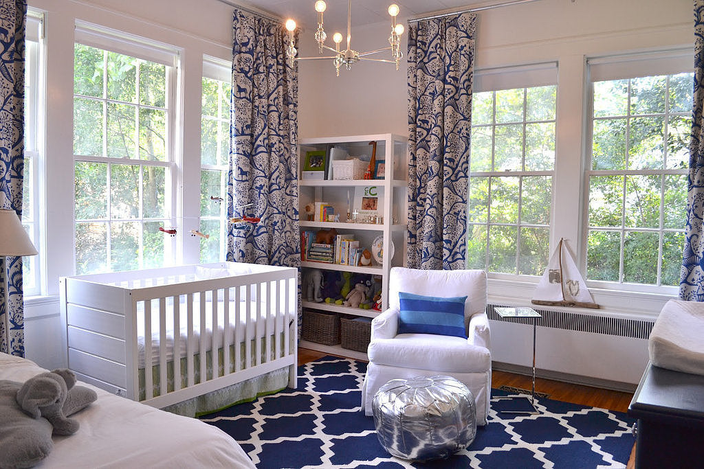 Posh Tot Sanctuary - Blue and White Nursery