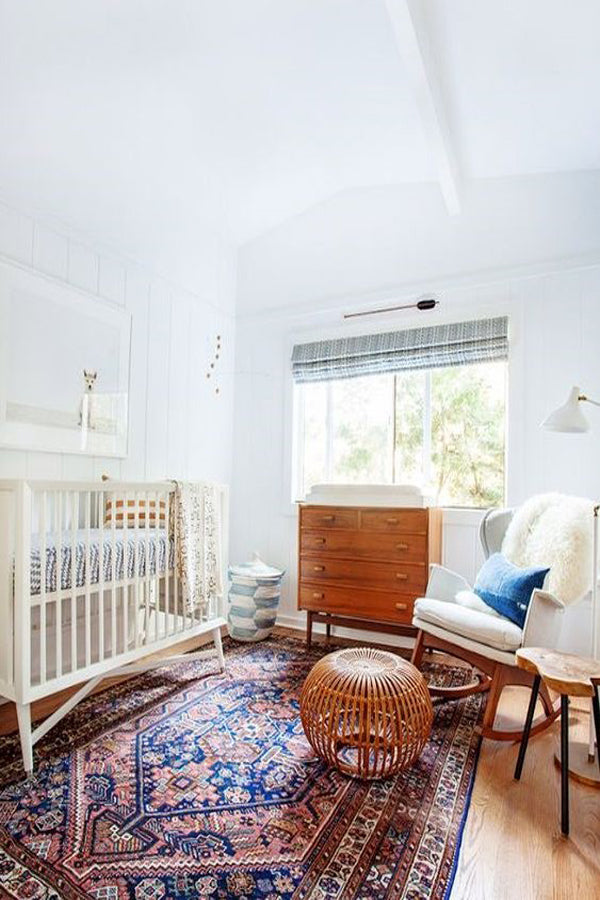 Gender Neutral Nursery with Accent Rug | 5 Trendy and Unique Nursery Themes for 2017 | Baby Aspen