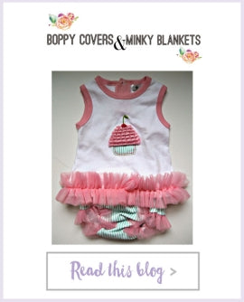 Boppy Covers and Minky Blankets - Baby Cakes Outfit