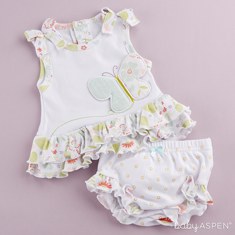 Butterfly Tunic Bloomer Set  | Sweet Baby Blossom Collection by @BabyAspen