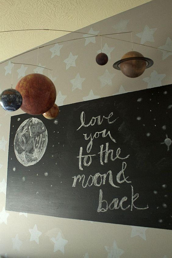 Cooper's Transitional Nursery Love You To The Moon and Back Sign by Laurie Chattin-Jones via Project Nursery