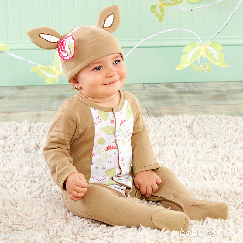 Deer Pajamas  | Sweet Baby Blossom Collection by @BabyAspen