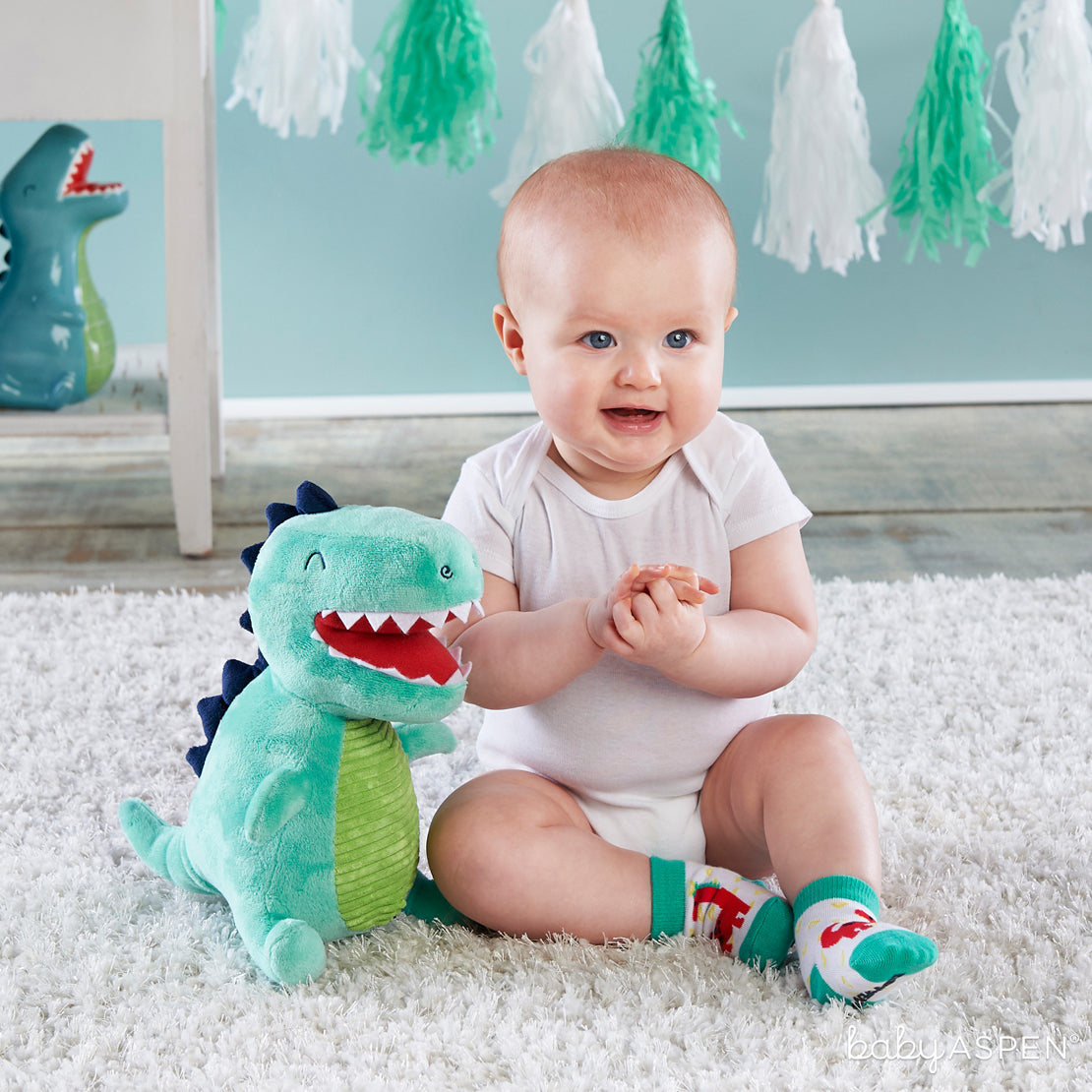 Doug The Dino With Baby | Plush Friends Every Baby Will Love | Baby Aspen