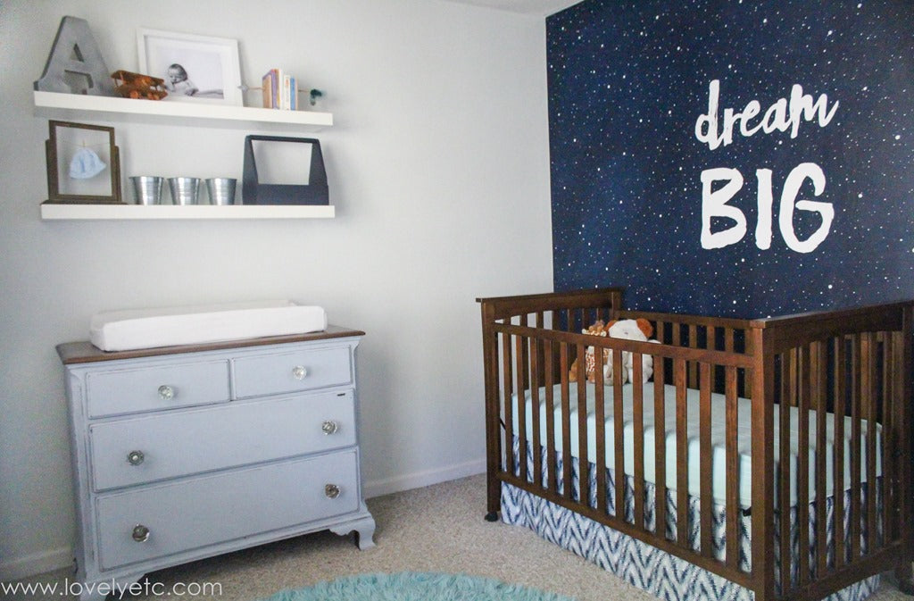 Dream Big Wall in Nursery via Lovely Etc