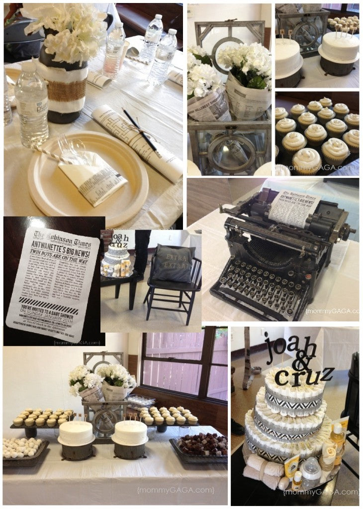Extra Extra! Read All About It | 8 Baby Shower Themes for Boys | Baby Aspen