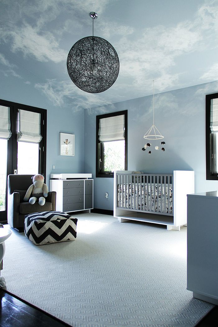 Sky Ceiling in Blue Nursery