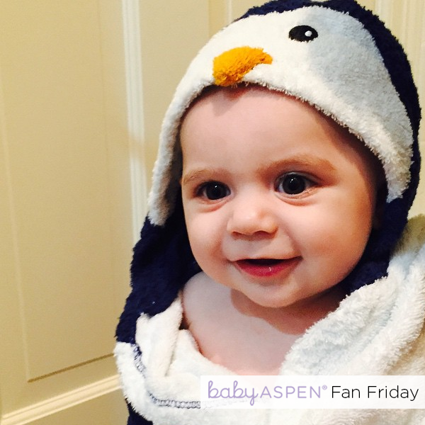 Baby in Penguin Robe by mishnola via Instagram