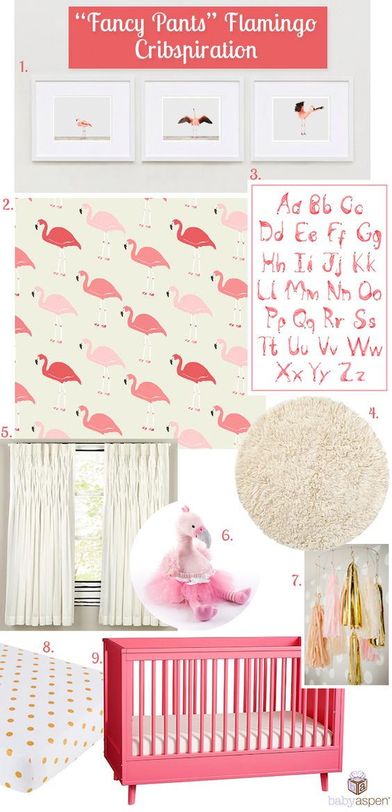 Flamingo Nursery Baby Aspen