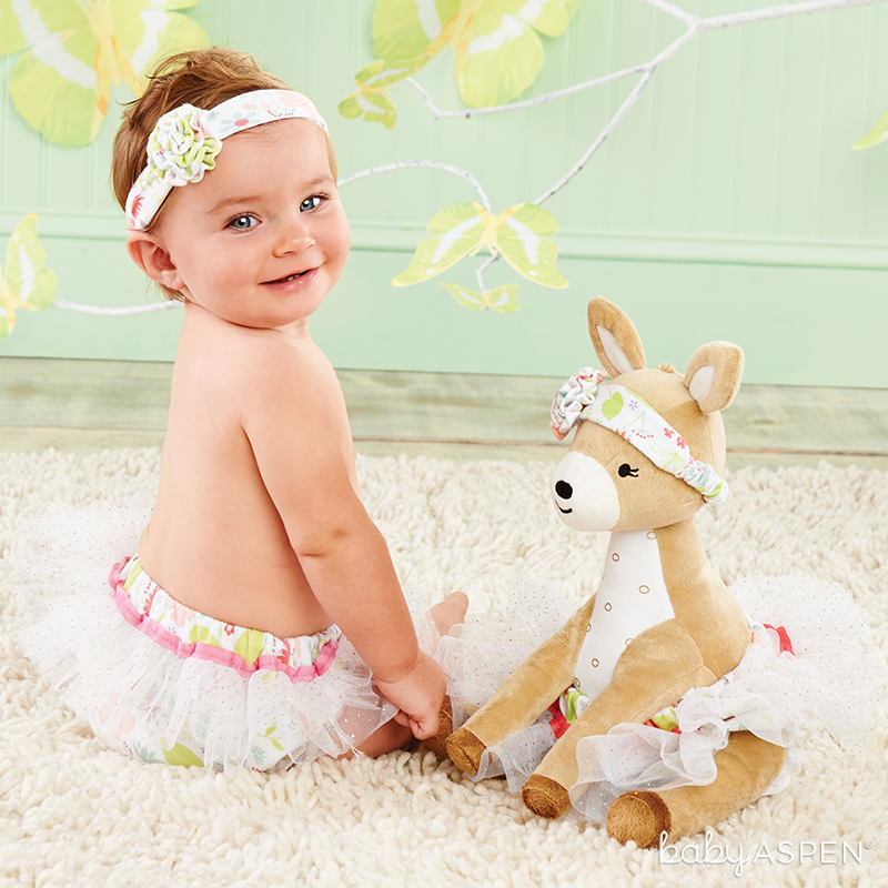 Flora the Fawn Plush Plus Deer with Bloomers for Baby  | Sweet Baby Blossom Collection by @BabyAspen