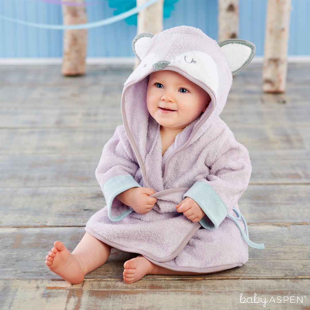 Fancy Fox Hooded Spa Robe | The Perfect Gifts For Your Little Forest Friend | Baby Aspen