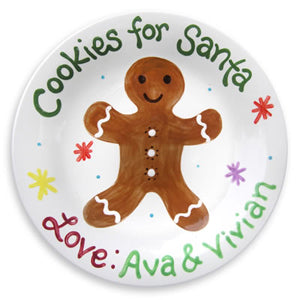 Personalized Gingerbread Cookie Plate | Corner Stork Baby Gifts | Holiday Gift Guide