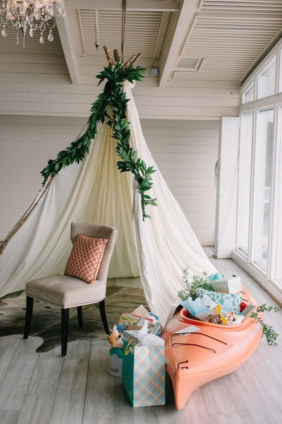 Glamping Baby Shower | Style Me Pretty