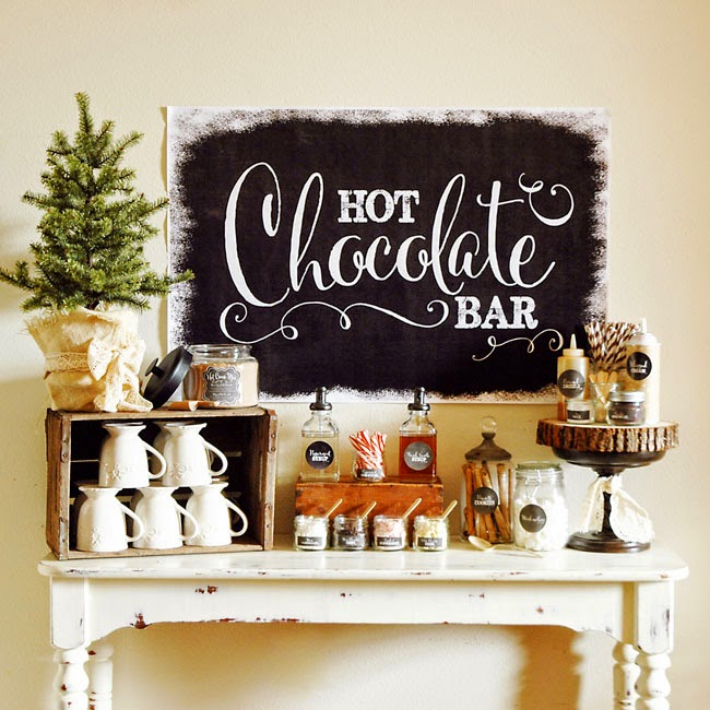 Hot Chocolate Bar | A Happy Holidays Baby Shower | Baby Aspen