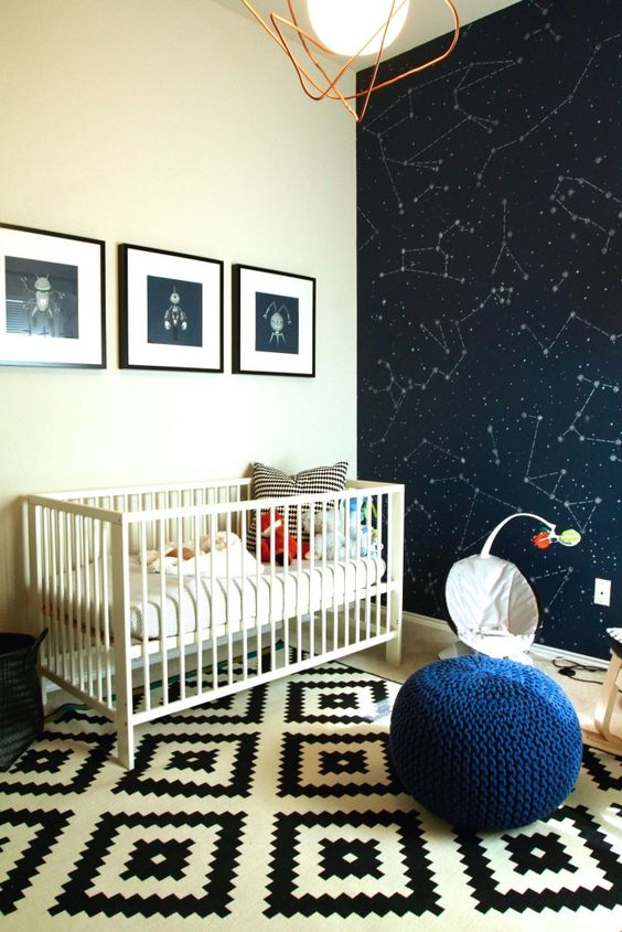 Kaiven's Space Nursery by FunKrista via Project Nursery