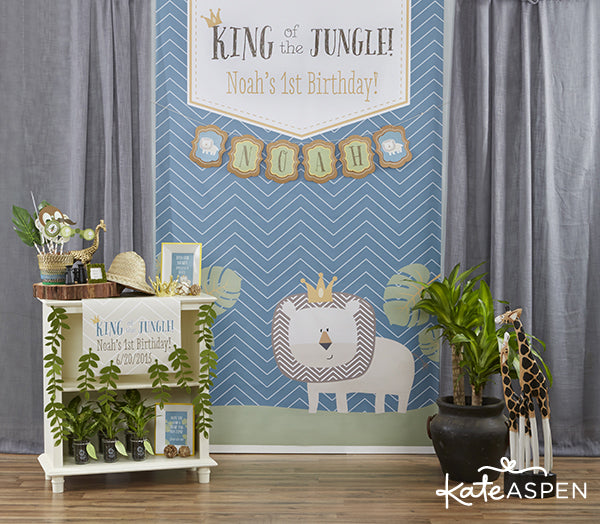 King of the Jungle Birthday Party | Kate Aspen