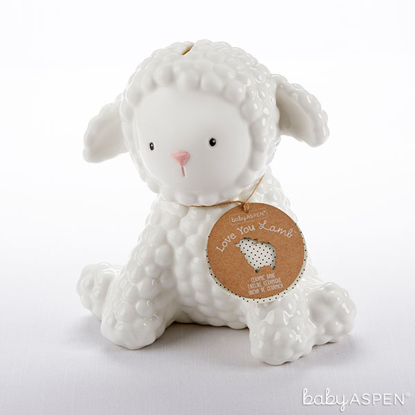 Ceramic Lamb Bank | BabyAspen.com