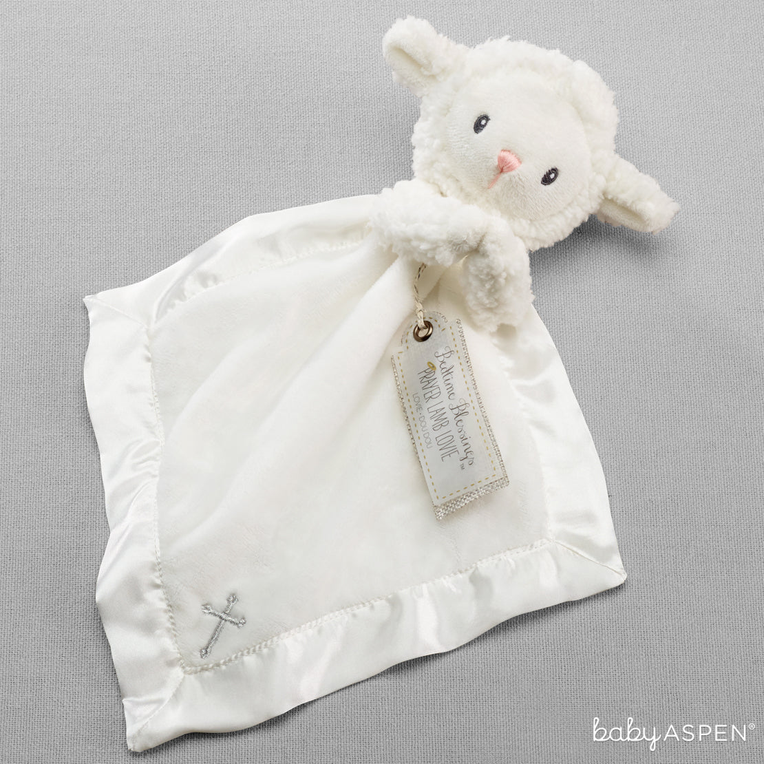 Bedtime Blessings Lamb Lovie | Cozy Blankets & Lovies to Warm Baby this Winter | Baby Aspen