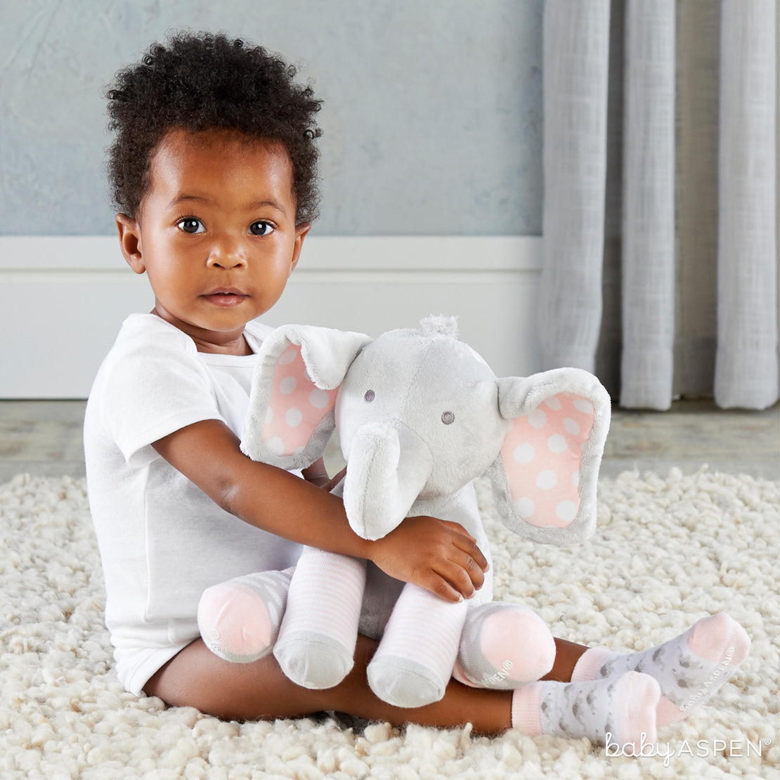 Lily The Elephant | Sweet Elephant Themed Gifts For Your Little Peanut | Baby Aspen