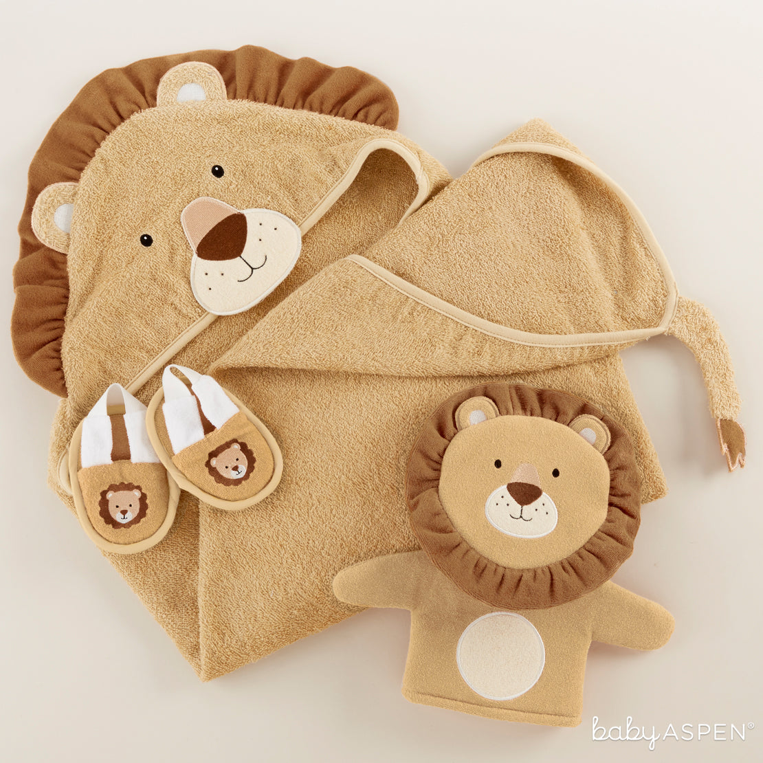 Lion Bath Set | Unique Gift Sets Perfect For Any Baby Shower | Baby Aspen