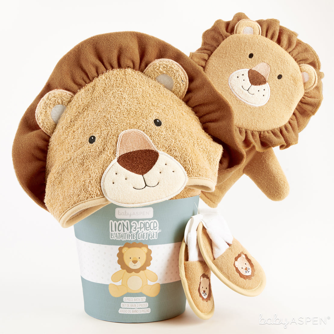 Lion Bath Set In Package | Unique Gift Sets Perfect For Any Baby Shower | Baby Aspen