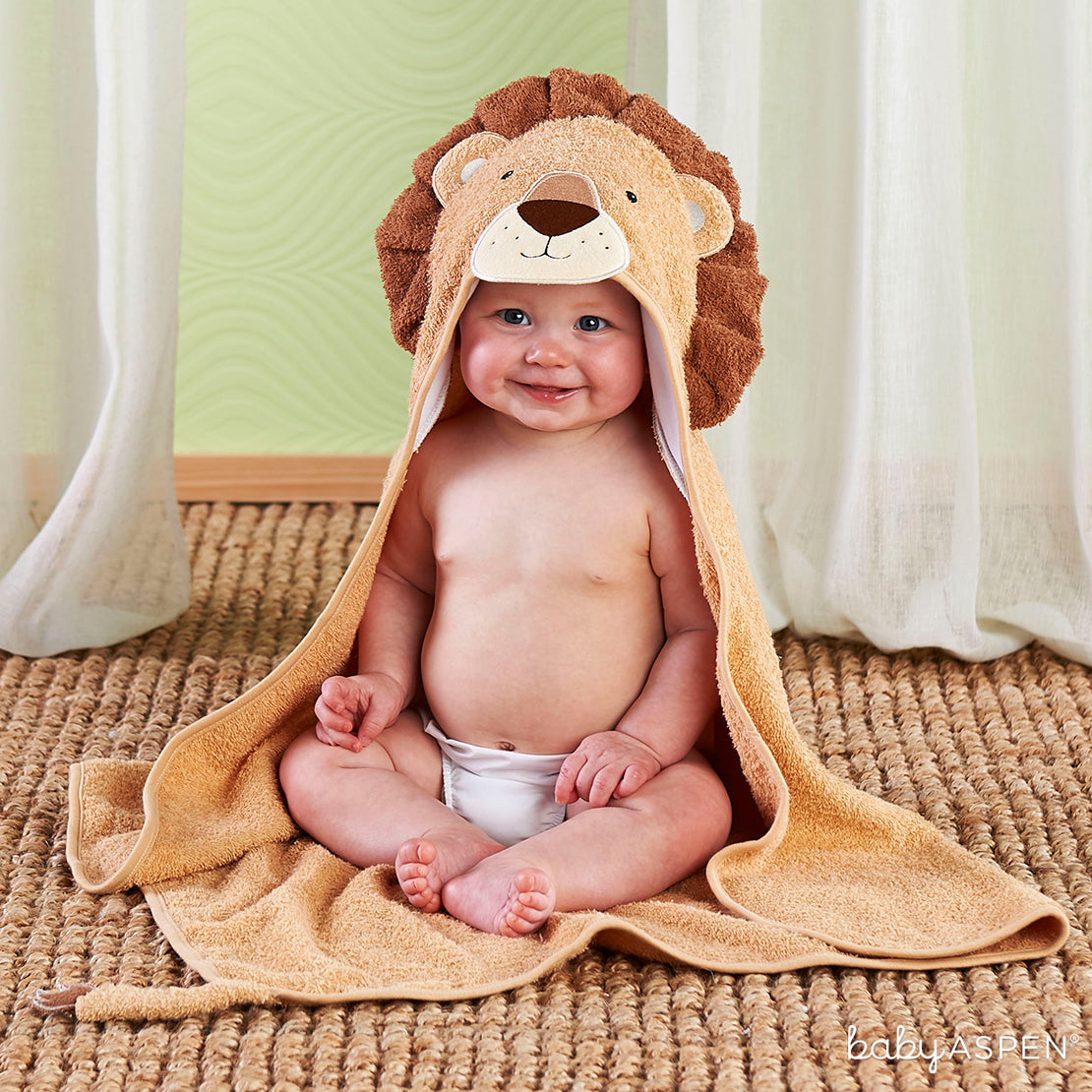 Lion Hooded Towel | The Cutest Baby Hooded Towels | Baby Aspen