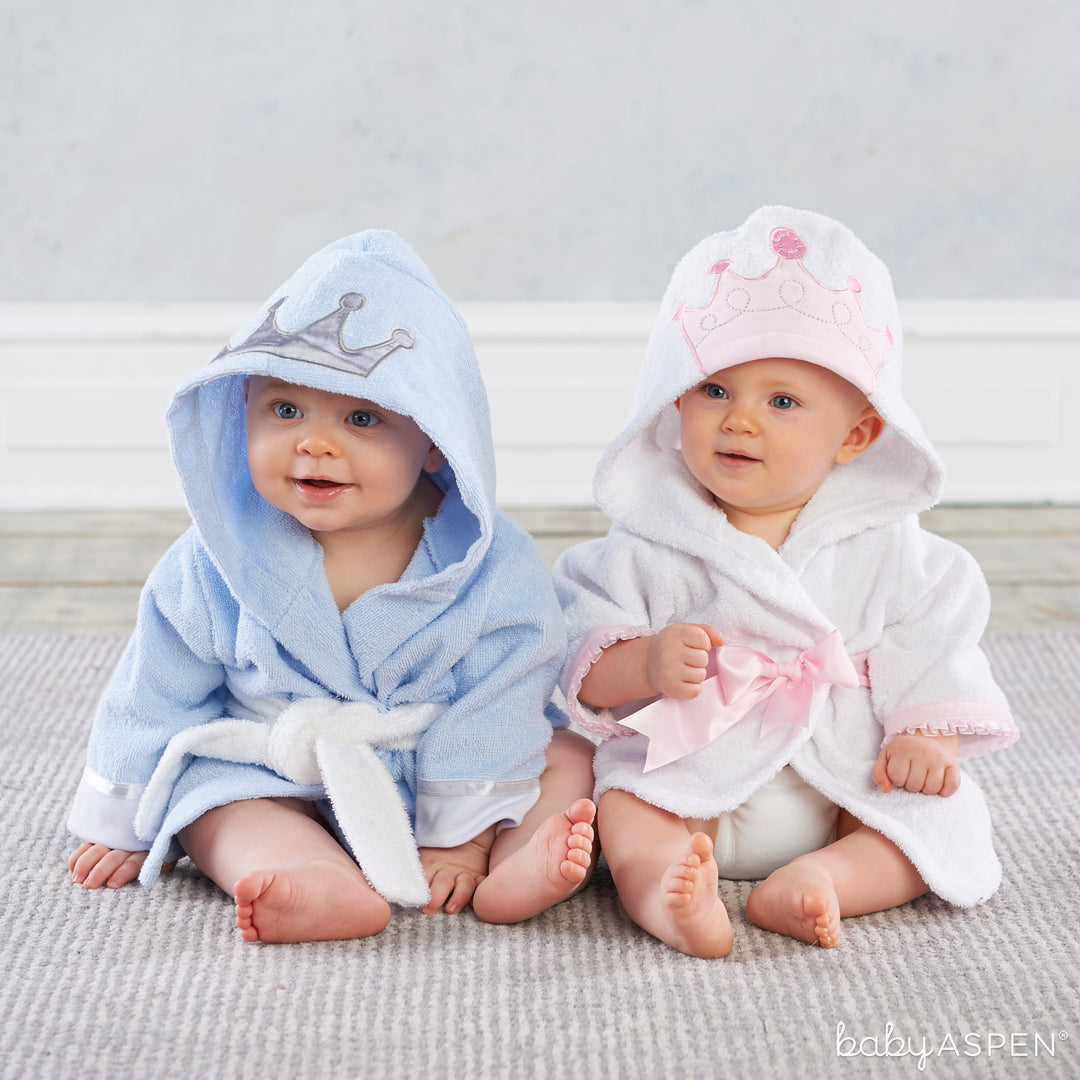 Little Princes and Princes Hooded Spa Robes | Baby Aspen