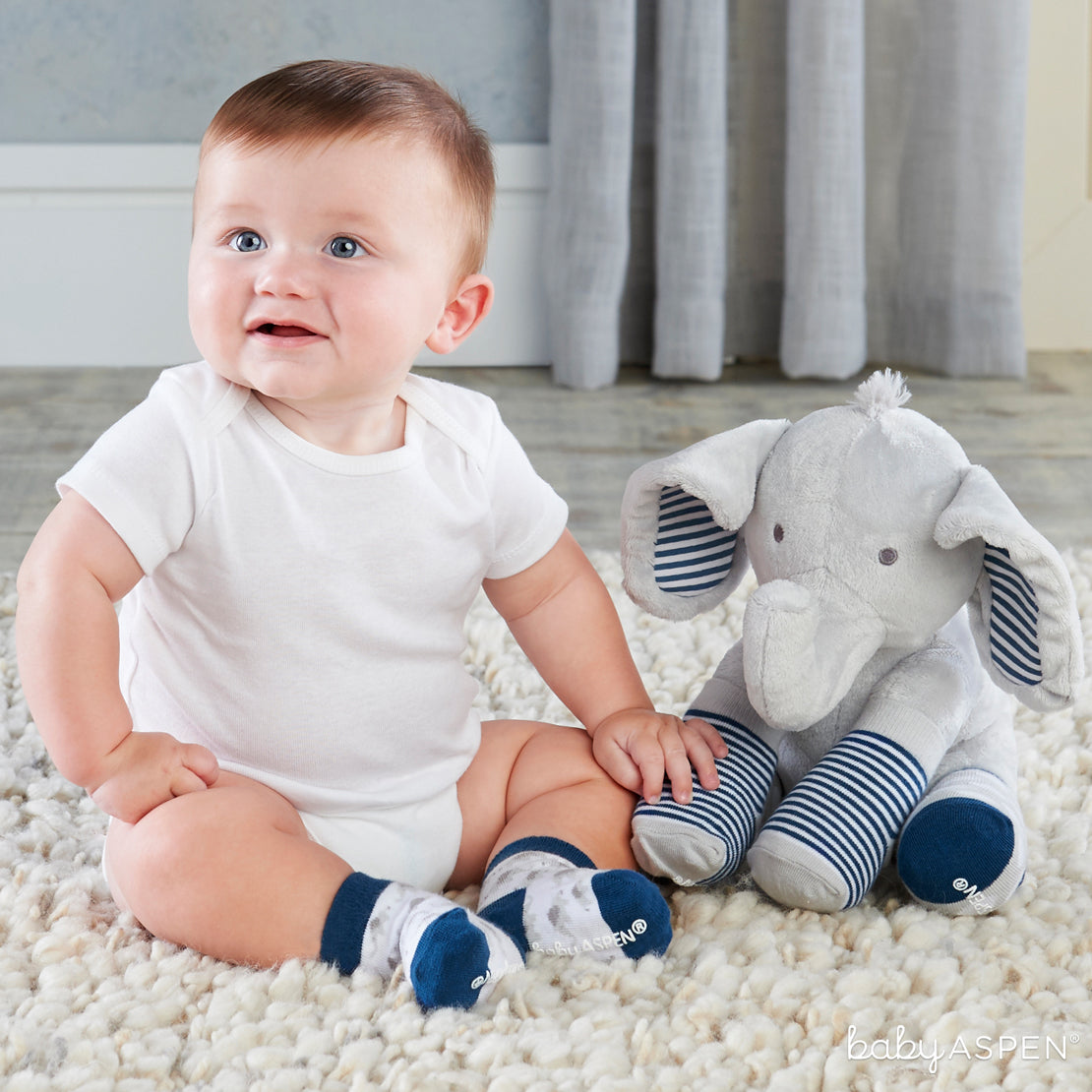 Louie The Elephant | Sweet Elephant Themed Gifts For Your Little Peanut | Baby Aspen