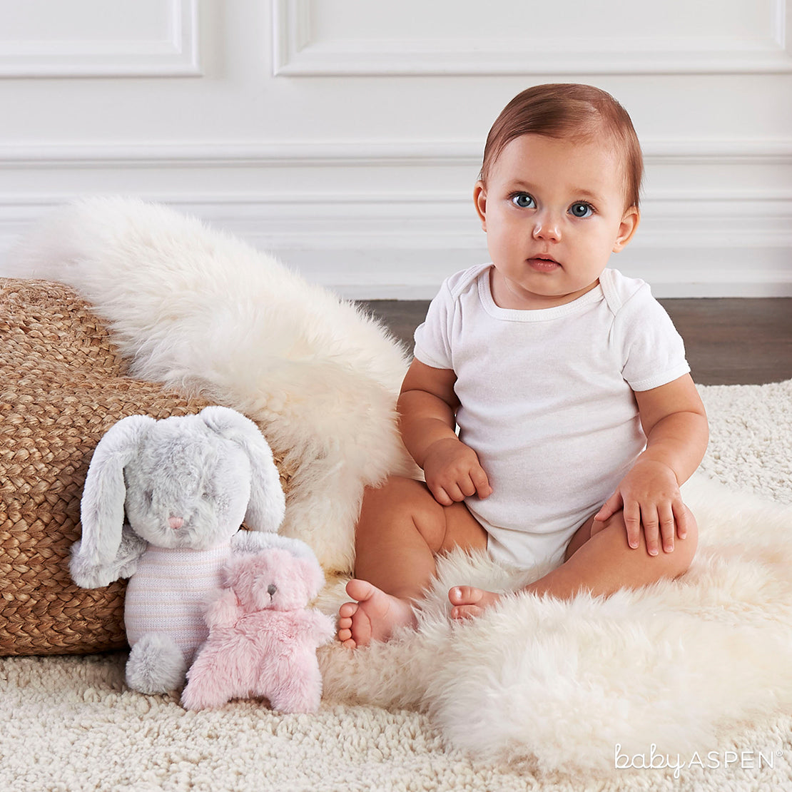 Luxury Bunny Plush Plus Rattle | 7 Excellent Easter Gifts for Your Little Chick | Baby Aspen
