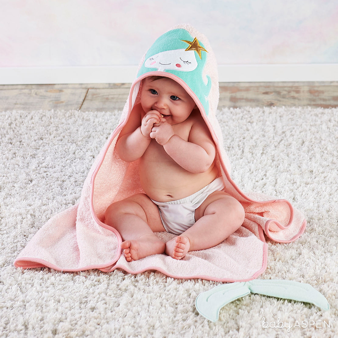 Mermaid Hooded Towel | The Cutest Baby Hooded Towels | Baby Aspen