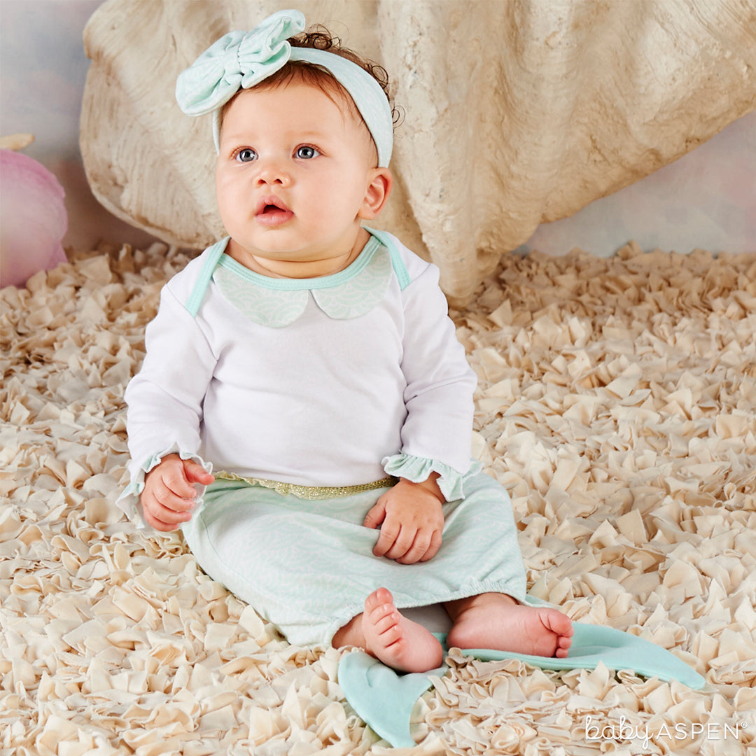 Mermaid 2-Piece Layette Set with Baby | 5 Simply Enchanted Gifts for Baby Girl | Baby Aspen