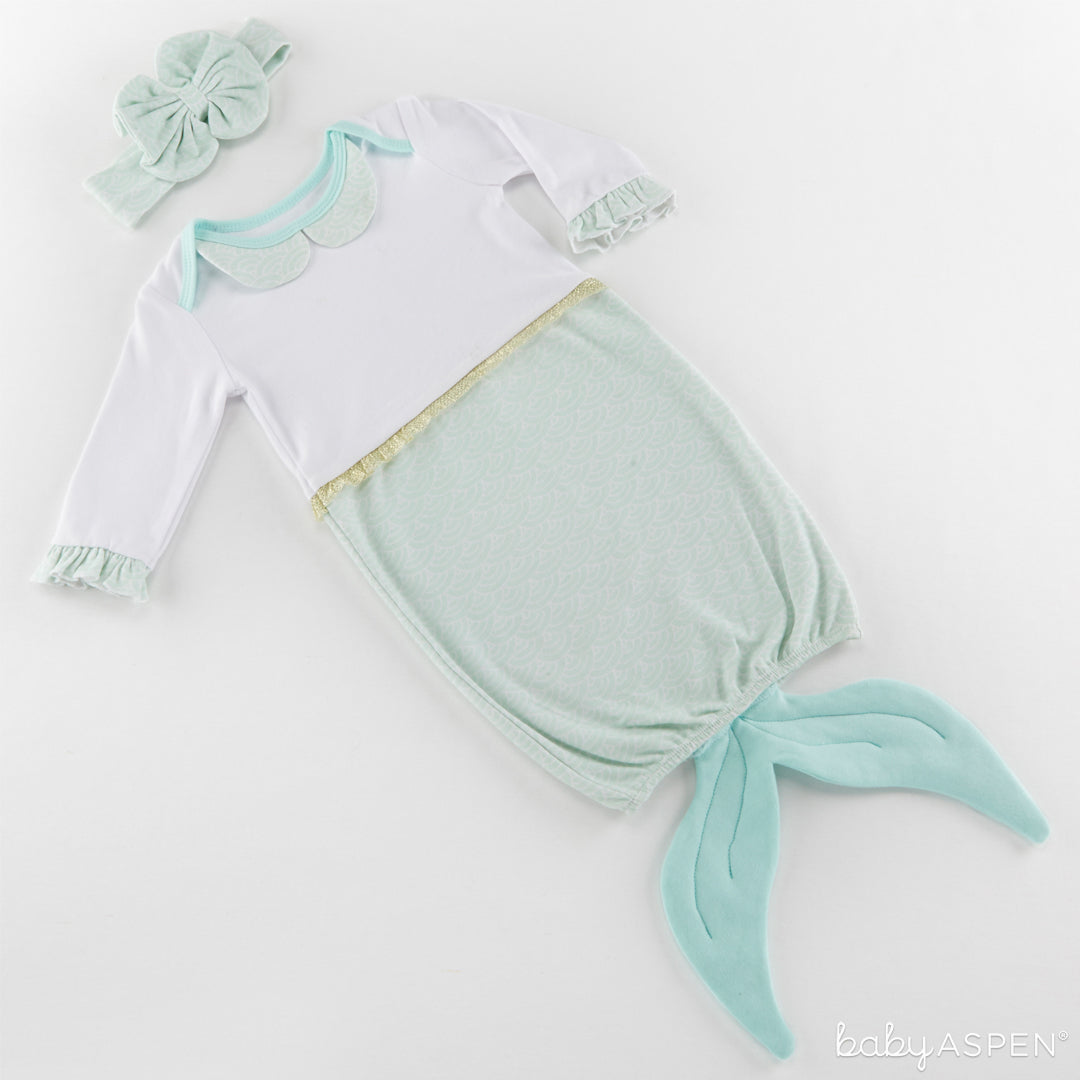 Mermaid 2-Piece Layette Set | 5 Simply Enchanted Gifts for Baby Girl | Baby Aspen