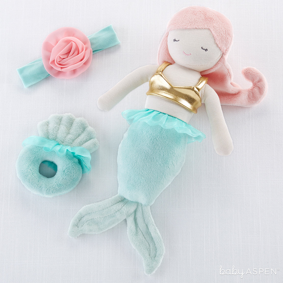 Mermaid Plush Plus Headband and Lovie | Holiday Gift Guide: Top 10 Baby Picks for 2018 | Baby Aspen