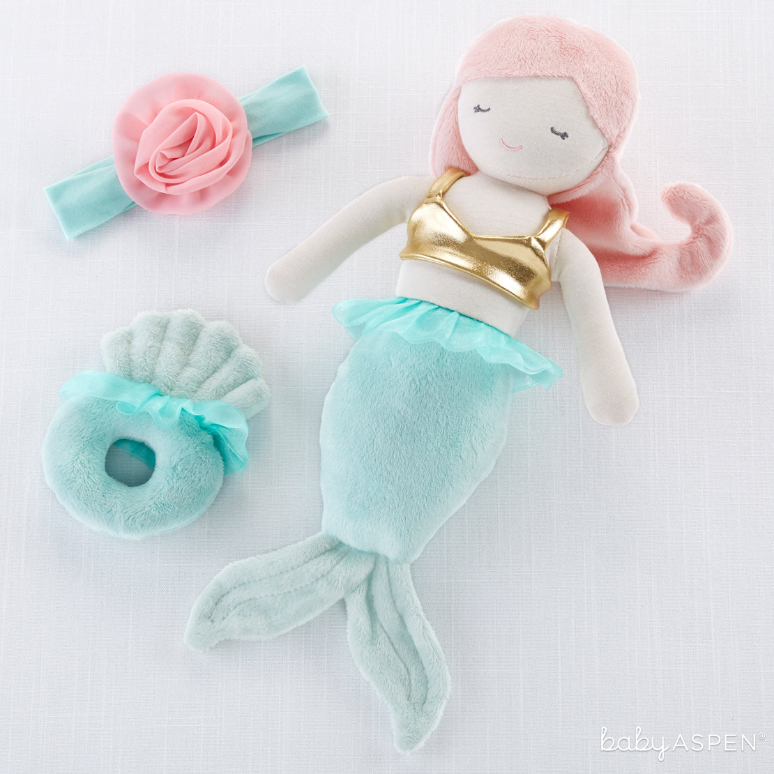 Mia The Mermaid | Plush Friends Every Baby Will Love | Baby Aspen