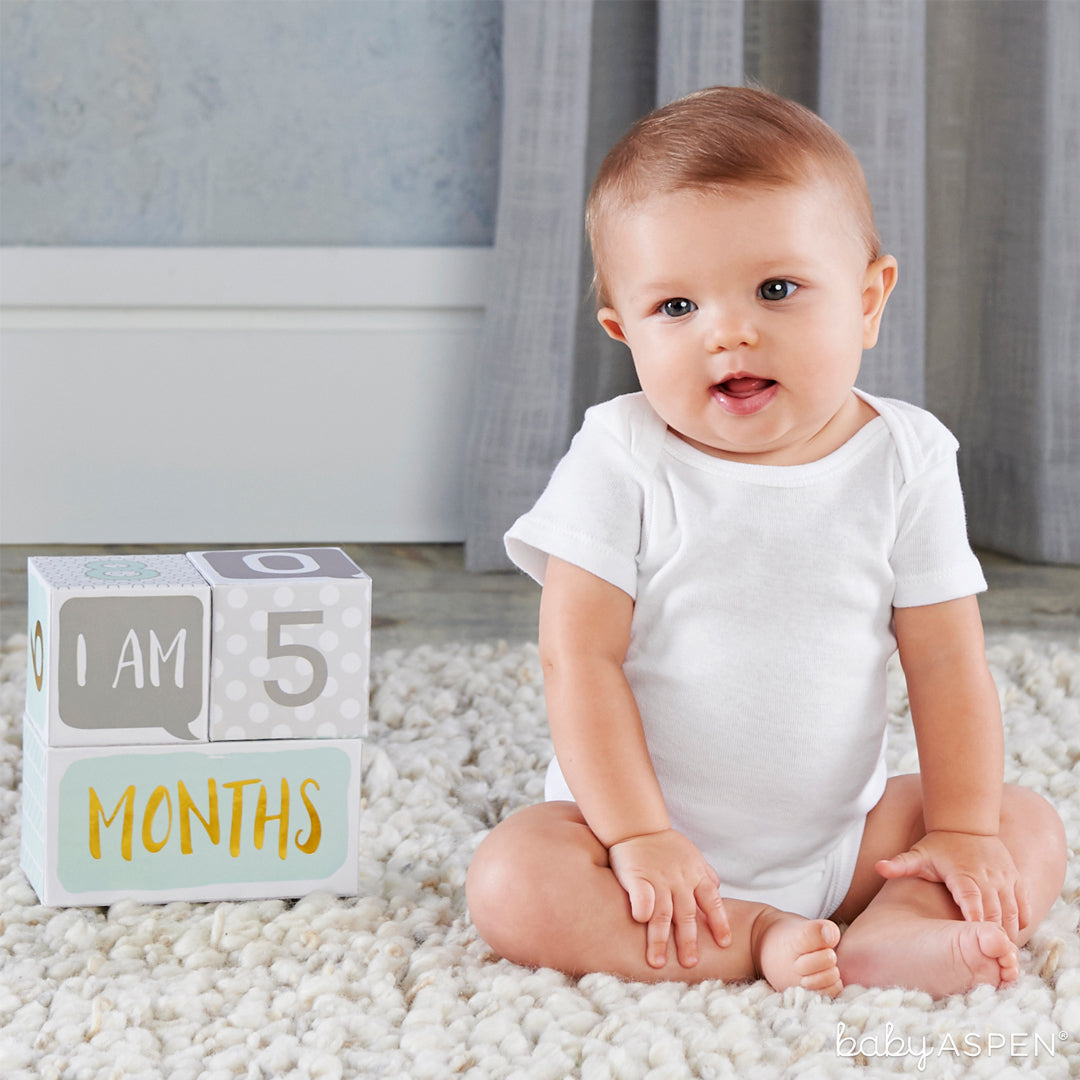 Milestone Blocks with Baby | Baby Gifts for Each New Milestone | Baby Aspen